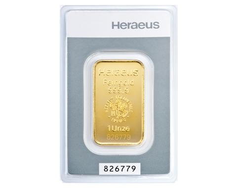 31,1 Gramm Heraeus Goldbarren
